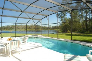 DisneyHomeFromHome.com - Pool with lake view